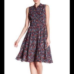 Nanette lepore chic floral chiffon dress